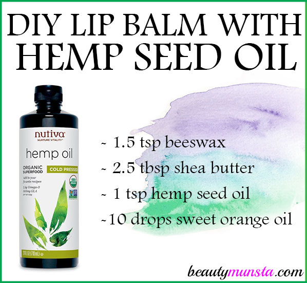 Treat your lips to a nourishing DIY hemp seed oil lip balm recipe that's moisturizing and healing!