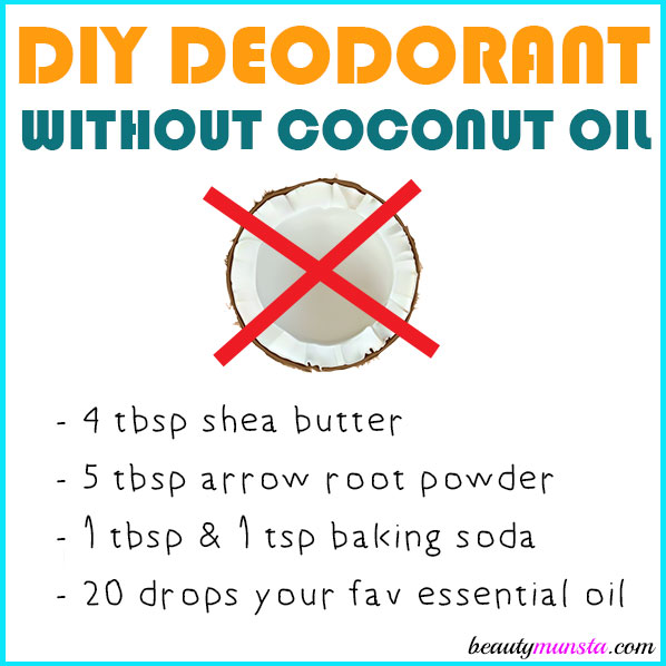 Follow this simple but incredibly simple recipe for DIY deodorant without coconut oil!