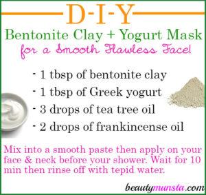 Bentonite Clay Yogurt Mask for Skin | DIY Facial Treatment