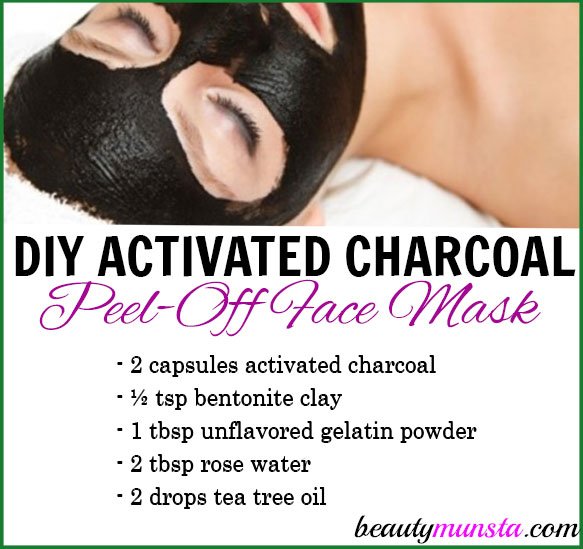 All Natural Charcoal Blackhead Mask Made With 2: DIY Activated Charcoal Peel-Off Mask