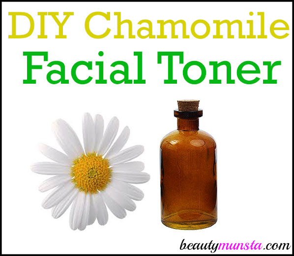 > Have you ever thought of making a DIY chamomile face toner? It is absolutely soothing I tell ya!