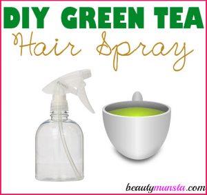 DIY Green Tea Hair Spray for Beautiful Hair