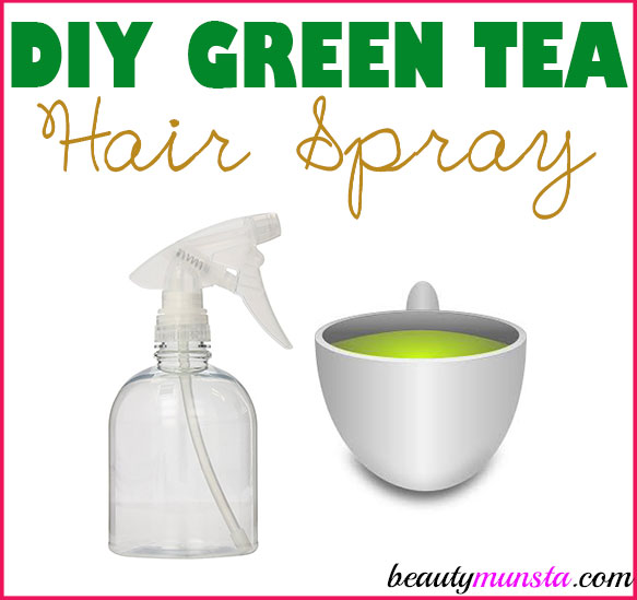 Have you ever thought of making a DIY green tea hair spray? I have a good & easy recipe below!