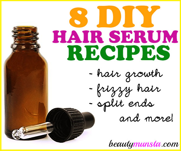 Looking for easy effective DIY hair serum recipes? Look no further than these 8 best recipes for dry hair, oily hair, split ends, frizzy hair, hair growth, natural hair and more!
