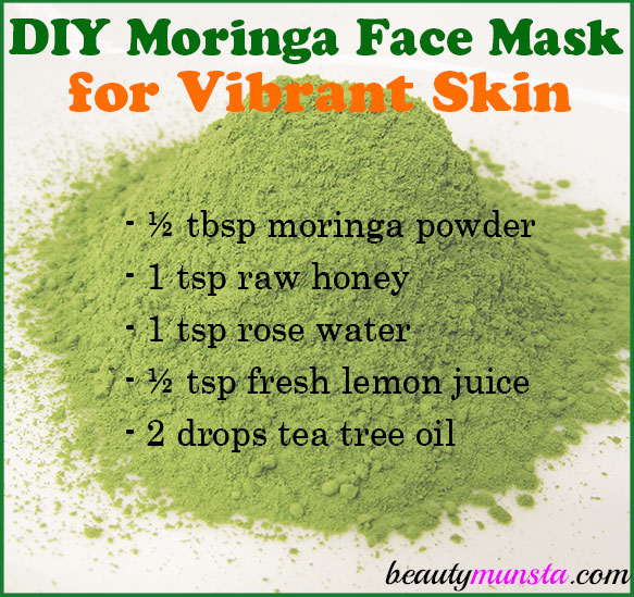 Treat your face to nourishing superfoods that are great for skin! Make a DIY moringa powder face mask for vibrant skin!