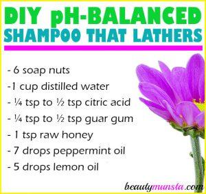 DIY pH Balanced Shampoo that Lathers