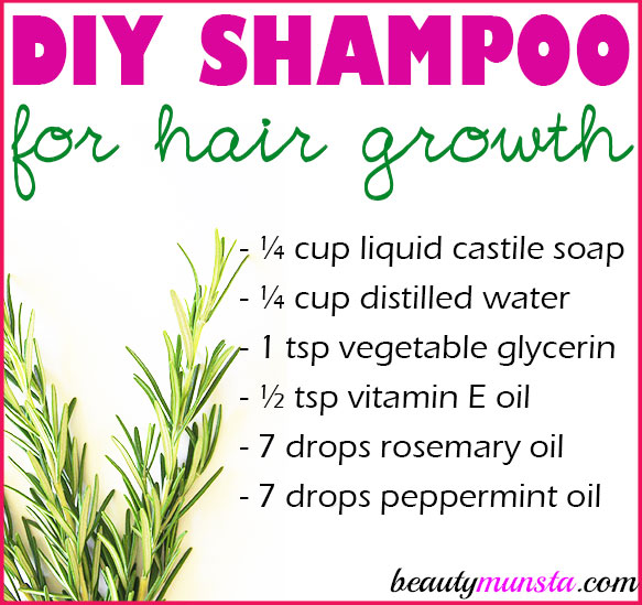 One of the ways to encourage strong long thick and healthy hair is by making your own homemade shampoo for hair growth!