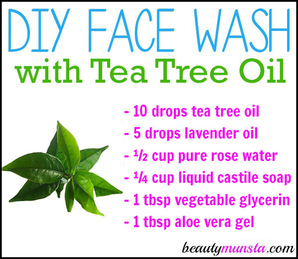 Learn how to make an easy DIY face wash with tea tree oil!