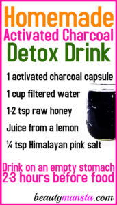 Activated Charcoal Juice Recipe