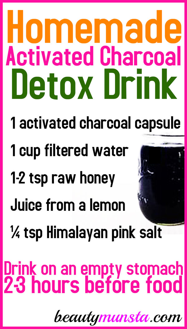 Try this activated charcoal juice recipe for a natural detox at home!