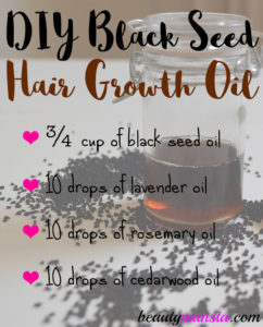 DIY Black Seed Hair Growth Oil Recipe