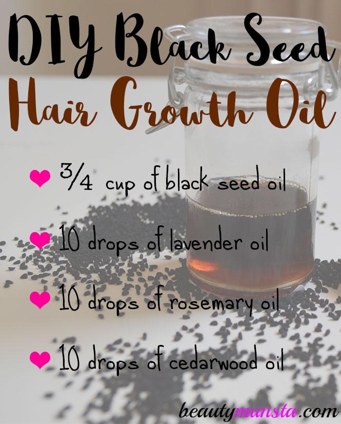 DIY Black Seed Hair Growth Oil Recipe - beautymunsta - free