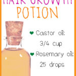 Castor Oil Rosemary Hair Growth Oil for Thinning Hair