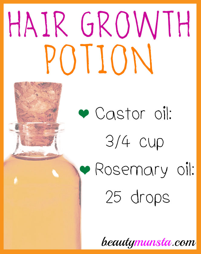 Here's the recipe for castor oil rosemary hair growth oil for thinning hair