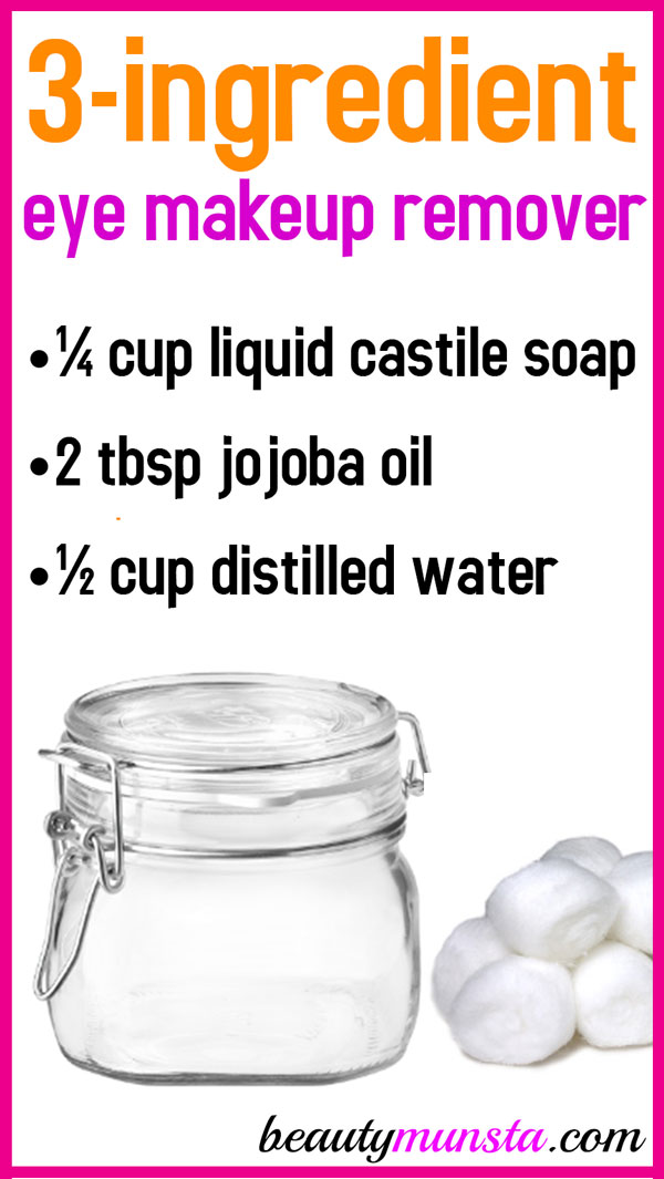Make the easiest ever DIY eye makeup remover! The best part? It works!