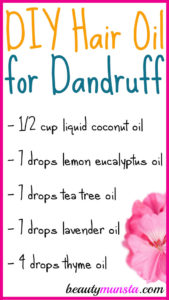 DIY Hair Oil for Dandruff with Coconut Oil & Essential Oils