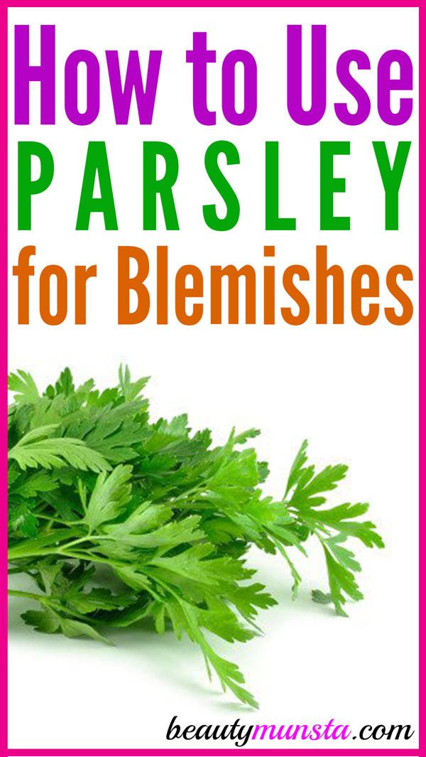 You may not believe it but you can actually use a DIY parsley face mask for blemishes, dark spots, dark circles and skin lightening!