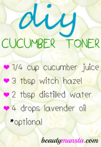 Homemade Cucumber Toner