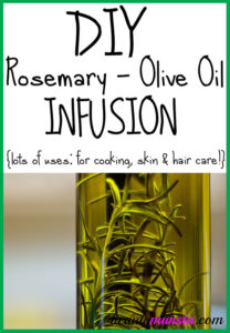 How to Make a Rosemary Olive Oil Infusion