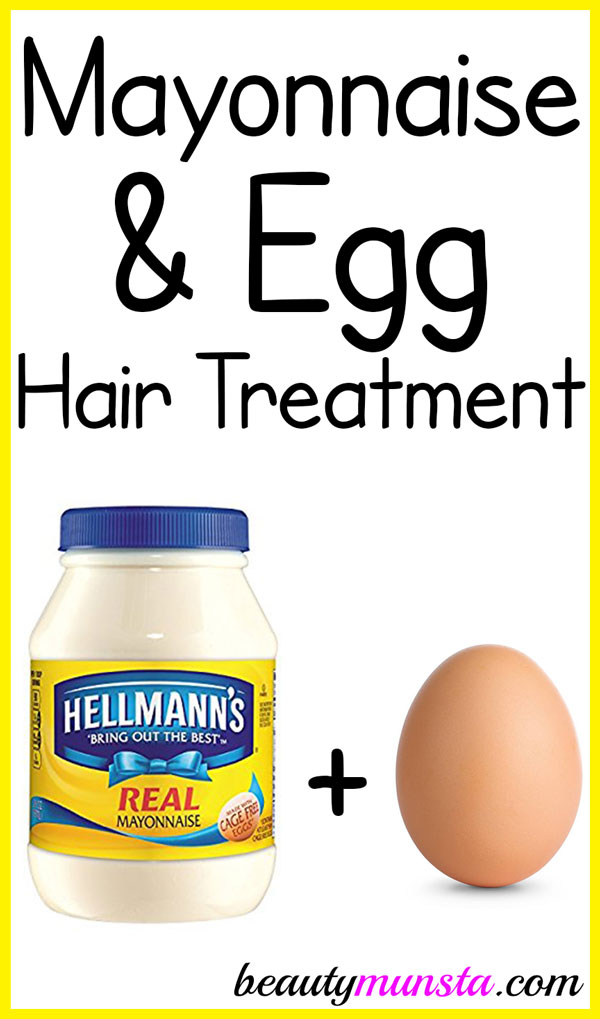 Pamper your damaged & frizzy locks with this mayonnaise and egg treatment for dry hair!