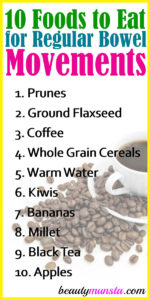 Top 10 Foods to Eat to have Regular Bowel Movements