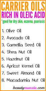 Top 8 Carrier Oils High in Oleic Acid