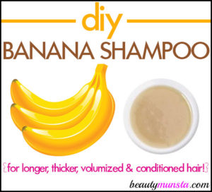 How to Make Banana Shampoo for Shiny Hair
