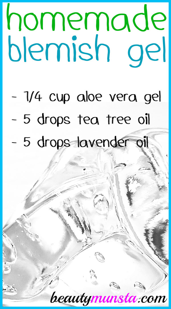 A soothing and healing homemade blemish gel is just what you need to help clear up your skin!