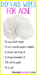 Homemade Face Wipes for Acne