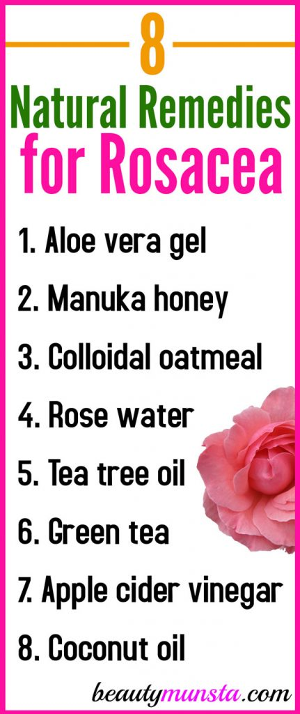 Find out 8 natural remedies for rosacea to calm your red irritated and burning skin at home!