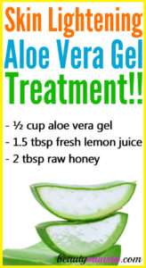 Aloe Vera Gel for Skin Lightening
