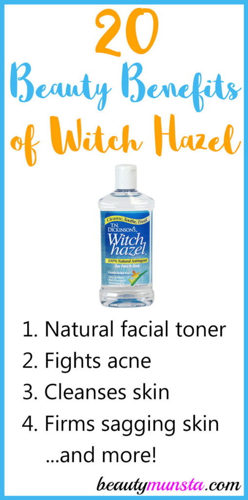 Guys, get ready to learn 20 exciting beauty benefits of witch hazel for skin, hair & more!