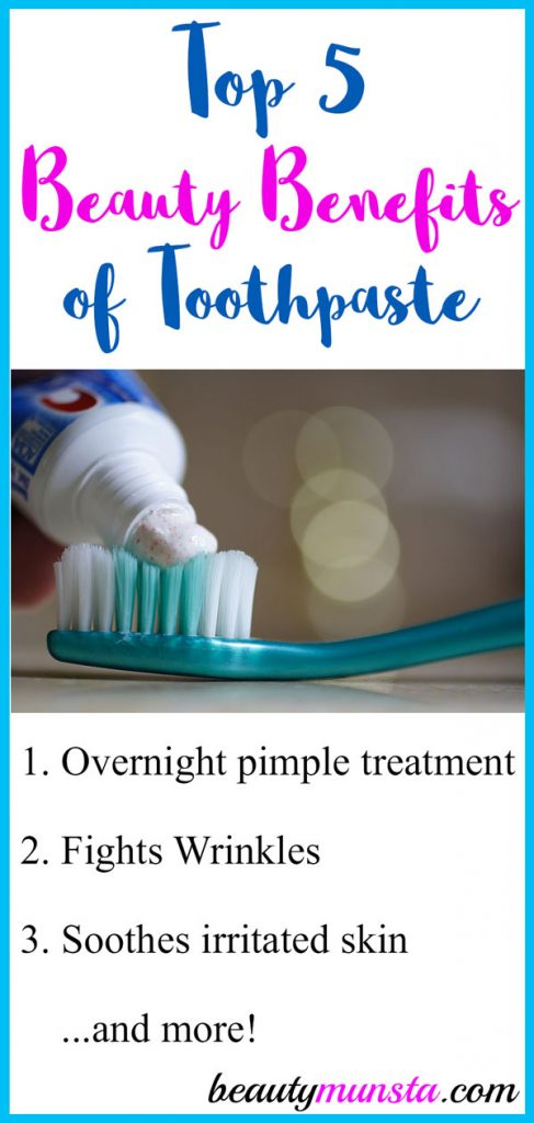 Are there any beauty benefits of toothpaste for the skin? What kind of toothpaste is best for application on the skin?