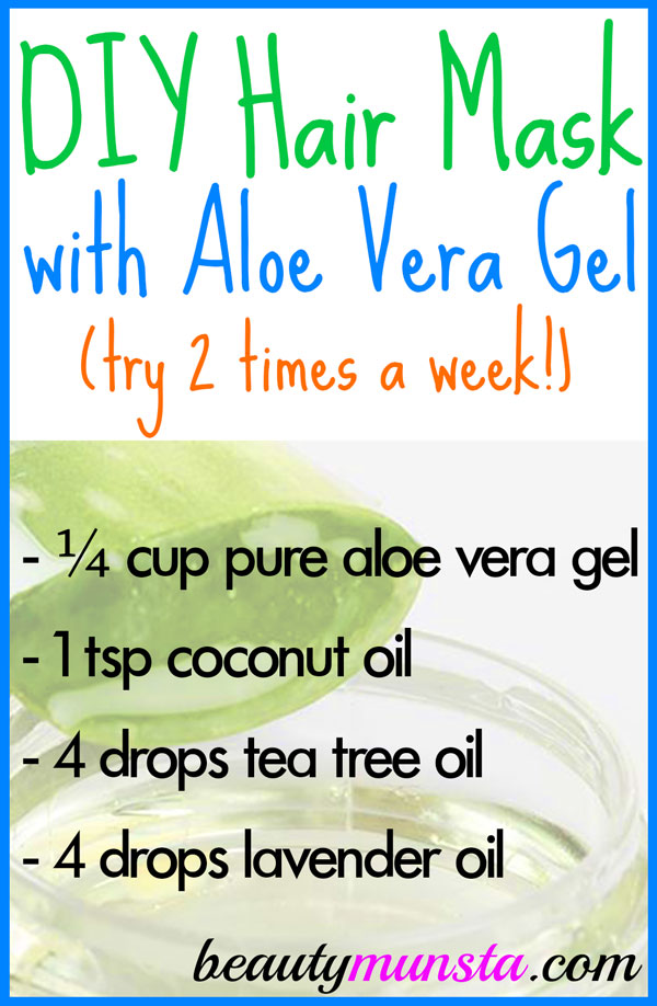 Create this DIY Aloe Vera Gel Hair Mask to soothe your scalp and promote healthy hair!