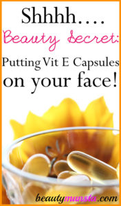 How to Apply Vitamin E Capsules for Skin Care