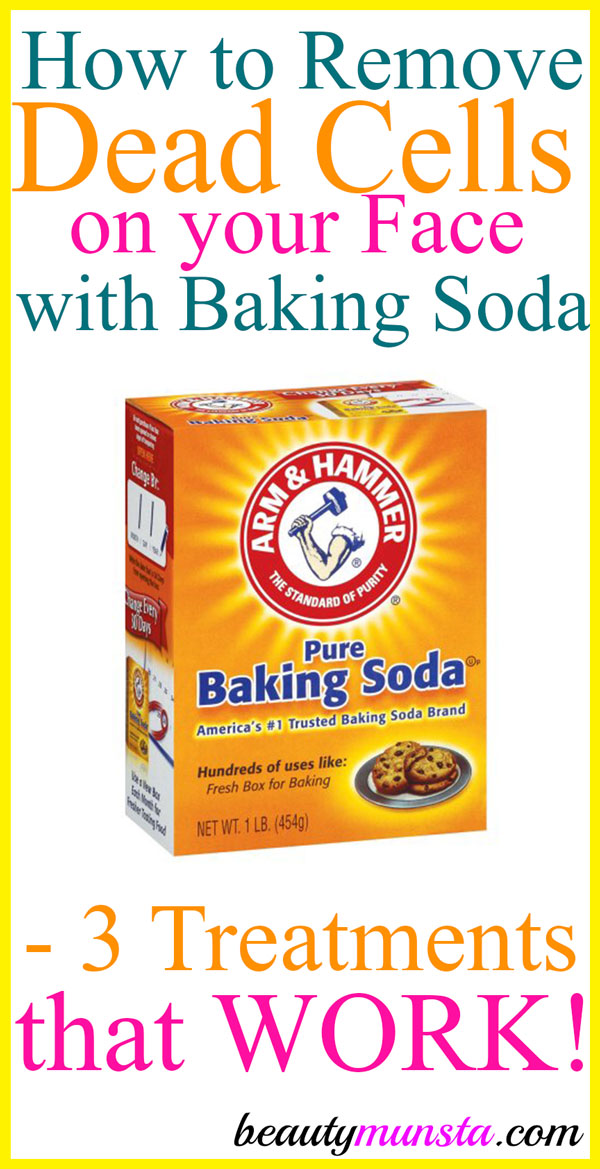Learn how to remove dead cells from your face with baking soda for bright, clear and smooth skin!