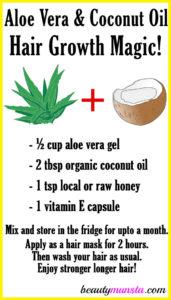 Aloe Vera and Coconut Oil for Hair Growth