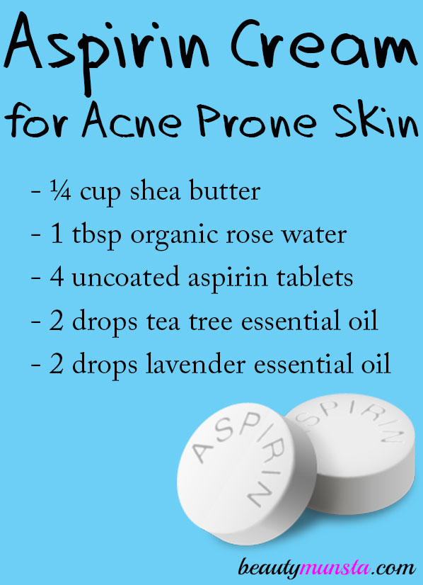 Make an aspirin cream for acne to greatly reduce huge angry red acne on your face!