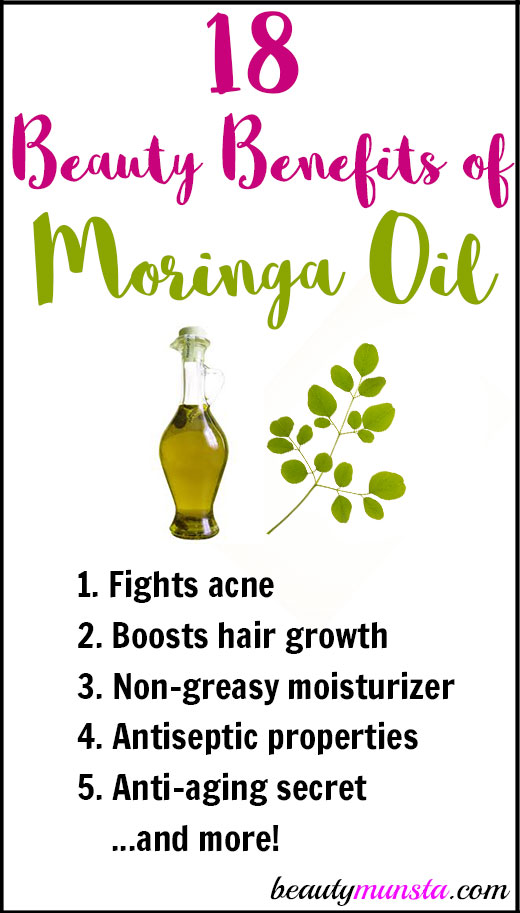 I'm glad I tried out moringa oil because it's truly something amazing when it comes to improving natural beauty! Let's discover 18 beauty benefits of moringa oil for skin, hair & more!