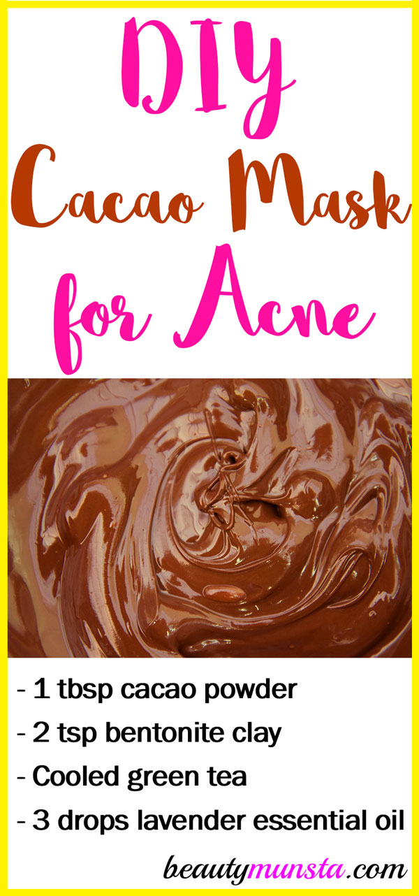 Whip up this cacao face mask for acne to get clearer skin!
