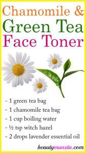 Chamomile and Green Tea Toner