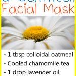 Chamomile Oatmeal Face Mask