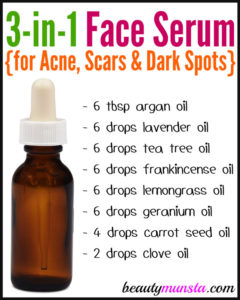 DIY Face Serum for Acne, Scars and Dark Spots