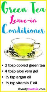 Green Tea Leave-in Conditioner Recipe