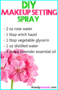 DIY Makeup Setting Spray with Witch Hazel