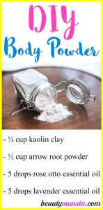 DIY Natural Body Powder Recipe