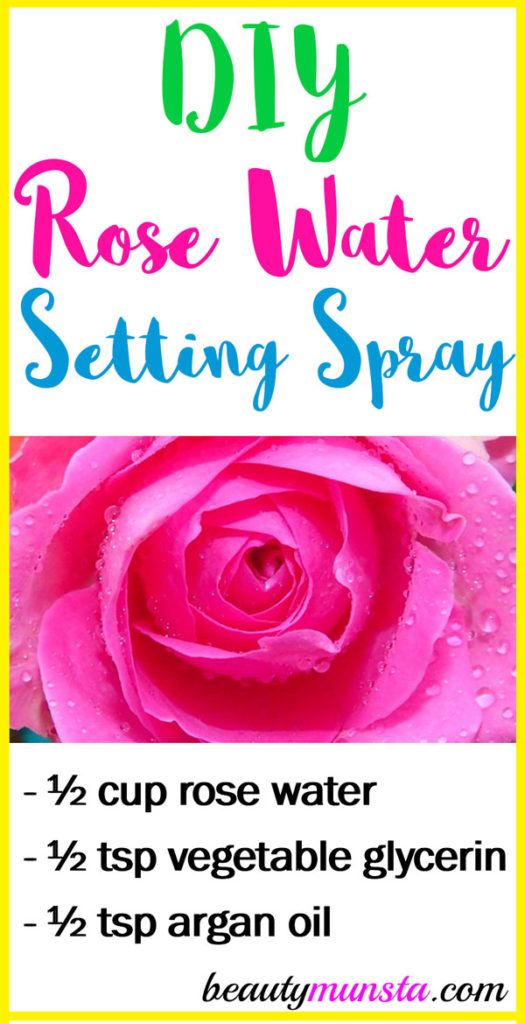 Make this lovely smelling DIY rose water setting spray at home!