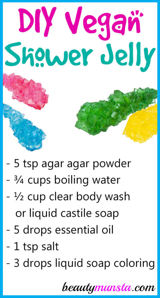 Let's get soapy with this fun DIY vegan shower jelly recipe!