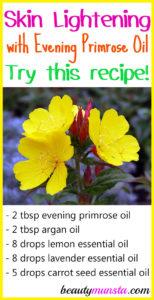 Evening Primrose Oil for Skin Lightening