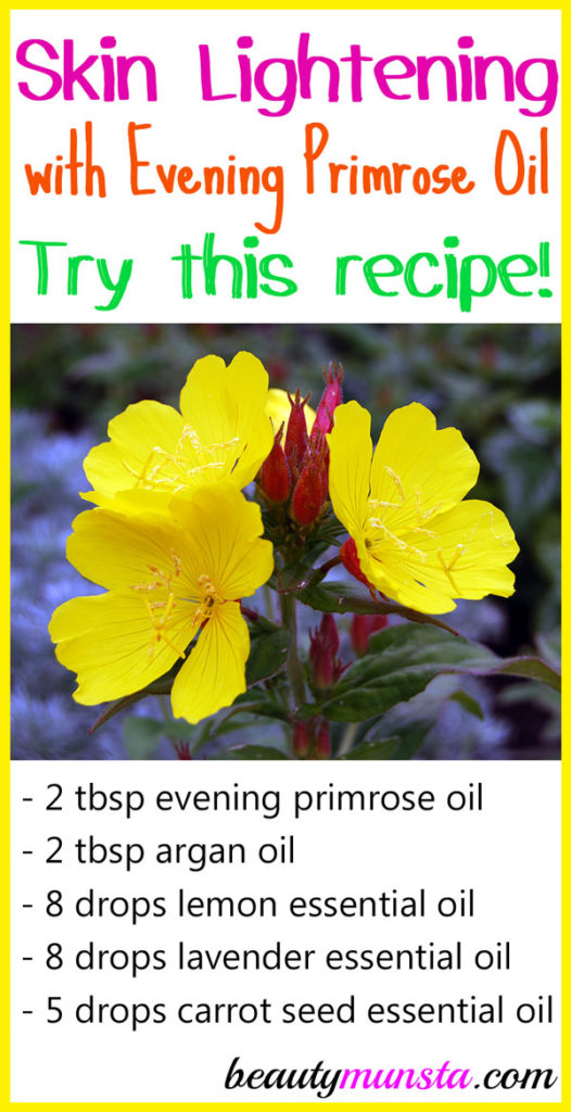 If you're suffering from hyperpigmentation, acne scars, dark spots and dull skin, try evening primrose oil for skin lightening. Many people have had success with it so it might help you as well!